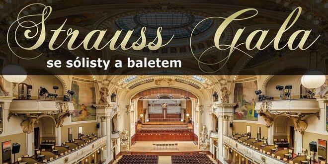 Galakoncert melodií Johanna Strausse s baletem
