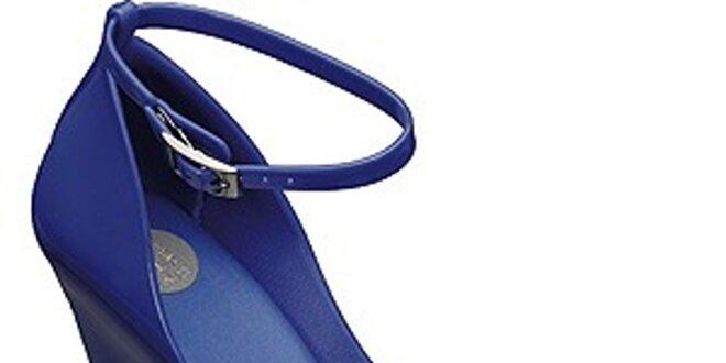 402a7bca9df0 Dámské zářivě modré lodičky Melissa na vysokém klínku