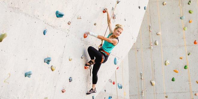2hodinový kurz lezení na stěně vč. vybavení