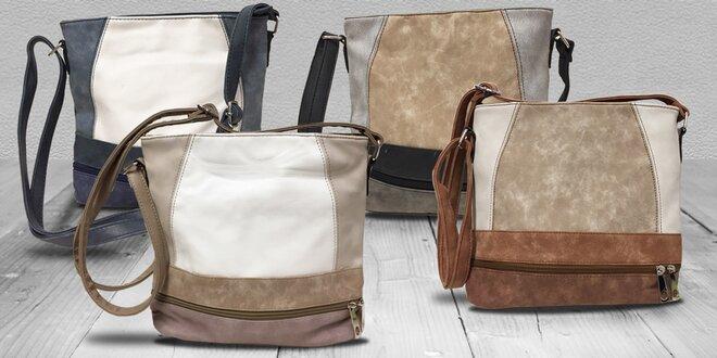 Crossbody kabelky s efektem broušené kůže