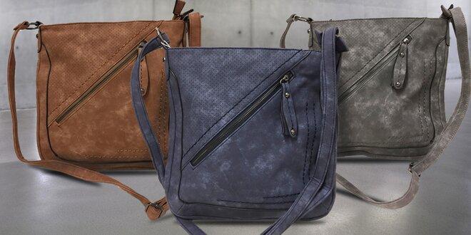 Dámská kabelka LUNA s efektem broušené kůže