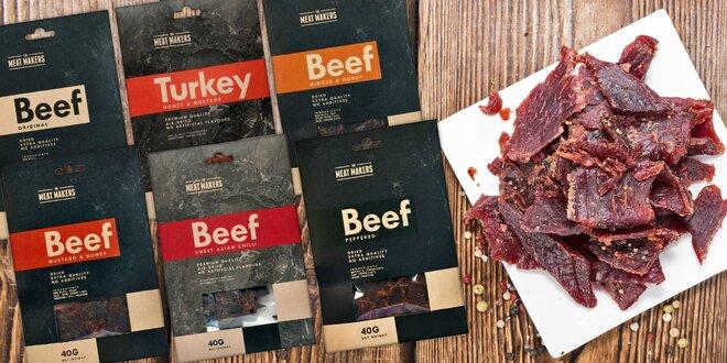 Kvalitní sušené hovězí maso: výběr z 6 chutí