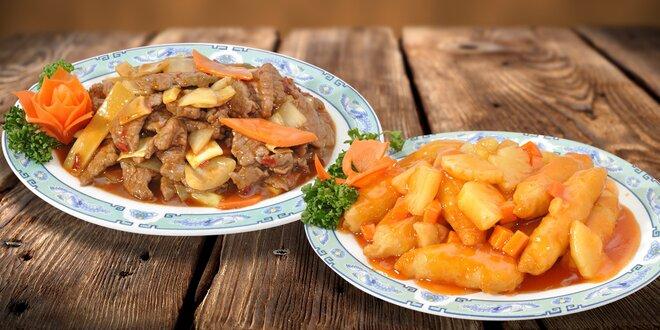 Čínské speciality pro dva podávané v 18. patře