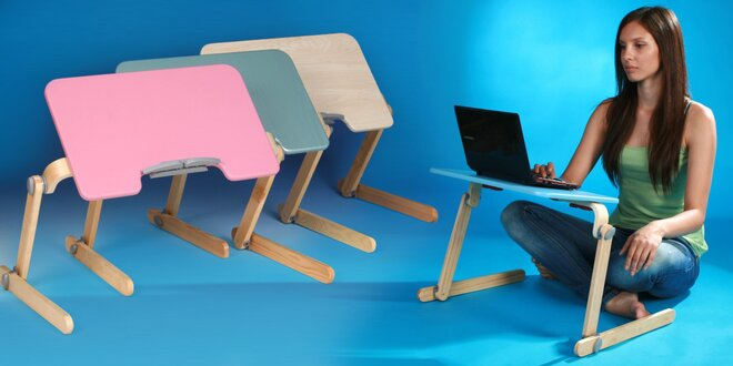 Praktické stolky na notebook na gauč nebo do postele