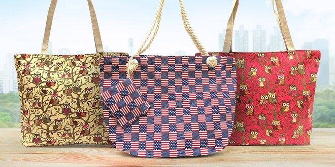 Dámské tašky s potiskem na pláž i do města