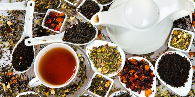 350g mix sypaných čajů: ovocné, zelené i rooibos
