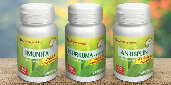 Tabletky na trávení, imunitu nebo proti splínu