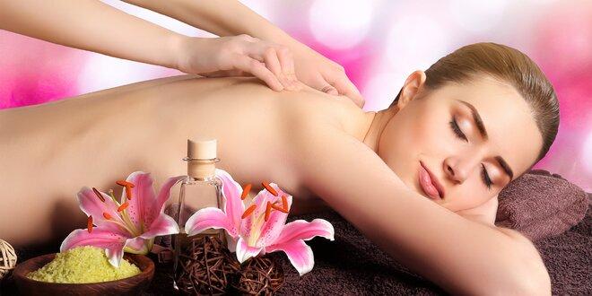 60 min. zdravotní nebo sladce relaxační masáže