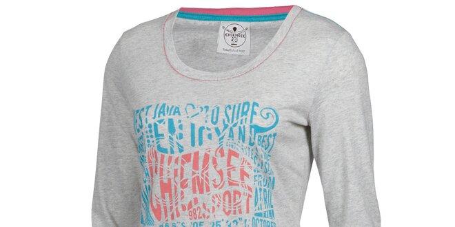 Dámské světle šedé tričko Chiemsee s potiskem