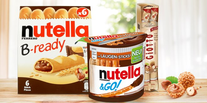 Tyčinky s Nutellou nebo kuličky Ferrero Giotto