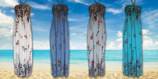 Dámské dlouhé květované šaty