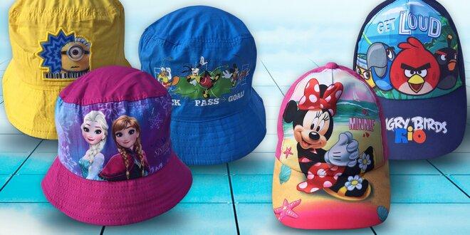 Licenční kšiltovky a kloboučky s motivy z oblíbených dětských pohádek