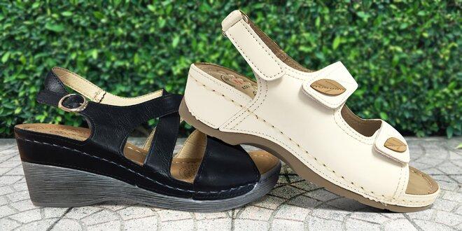 Dámské sandále s anatomicky tvarovanou stélkou