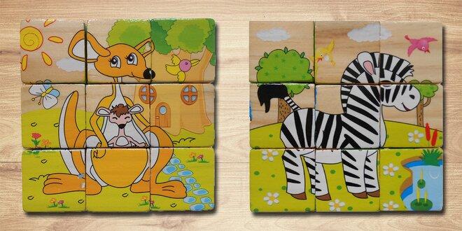 Dětské dřevěné kostky s obrázky