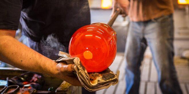 Zhotovení až tří výrobků ve sklářské huti