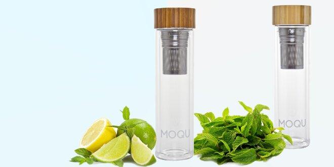 Designová skleněná láhev MOQU na pití