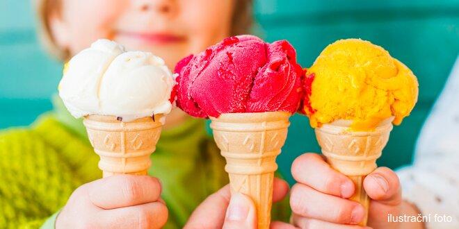 Lahodná zmrzlina do kornoutku nebo kelímku