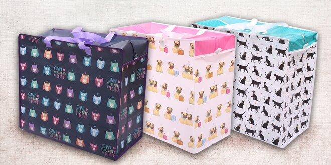 Originální taška na špinavé prádlo či úložný box