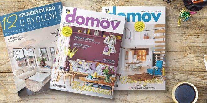 Předplatné časopisu DOMOV + bonusy navíc