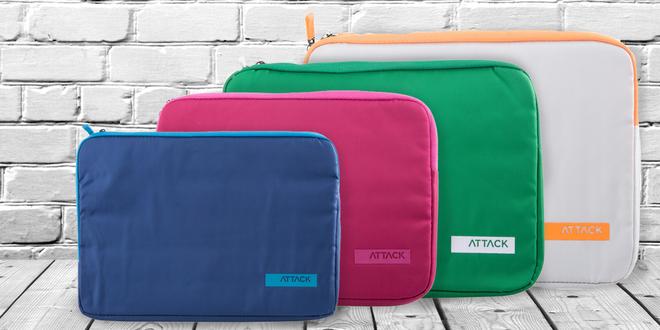 Ochranné pouzdro na zip pro notebooky v sedmi barvách