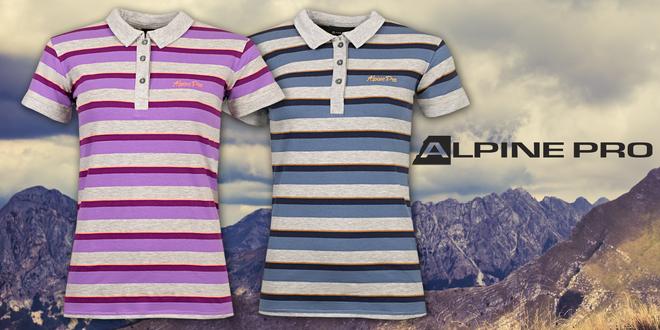 Dámská trička s límečkem od Alpine Pro