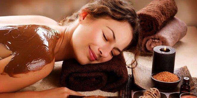Čokoládová masáž se zábalem a peelingem