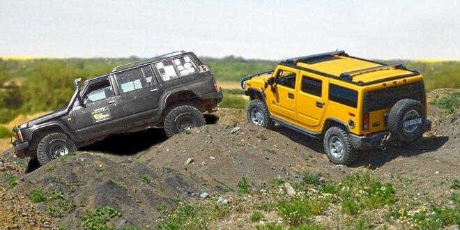 Offroad: jízda Hummerem H2 nebo Nissan Patrolem