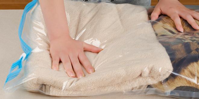 Originální vakuové pytle k uskladnění prádla