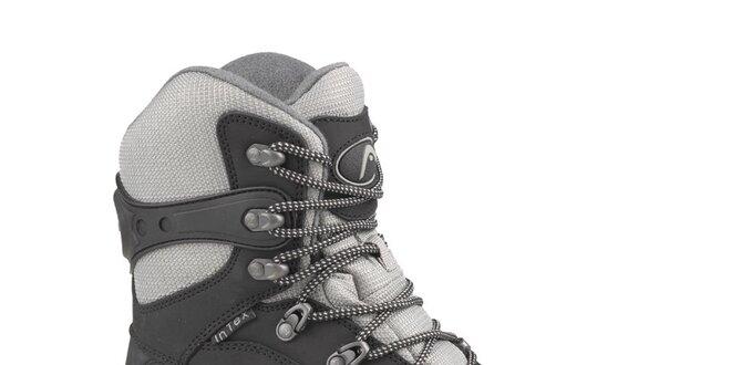 Pánské černo-šedé vysoké zimní trekingové boty Head s membránou ... 59d22f3cac