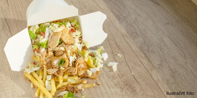 Pouliční dlabanec: Mega kebab v boxu