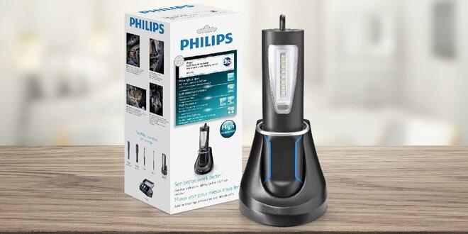 Pracovní dobíjecí LED lampa Philips s dokovací stanicí