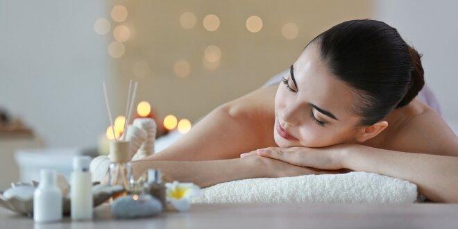 70minutová masáž – na výběr z 5 masáží