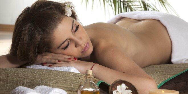 60 - 90 minut klasické či aromaterapeutické masáže