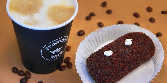 Čokoládová brambora a káva nebo čaj