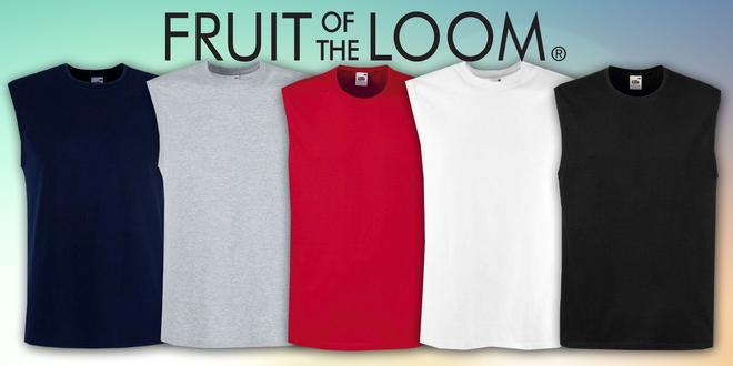Pánské triko bez rukávu Fruit of the loom