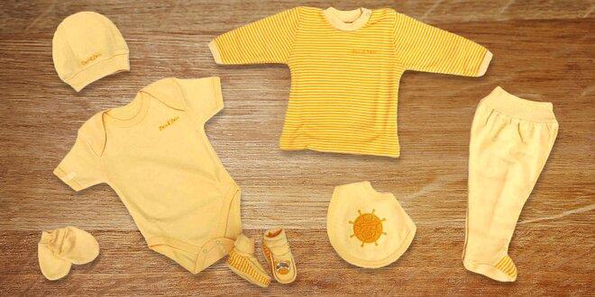 Jednobarevné 7dílné sety pro miminka