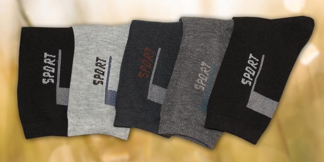 Pohodlné 100% bavlněné ponožky