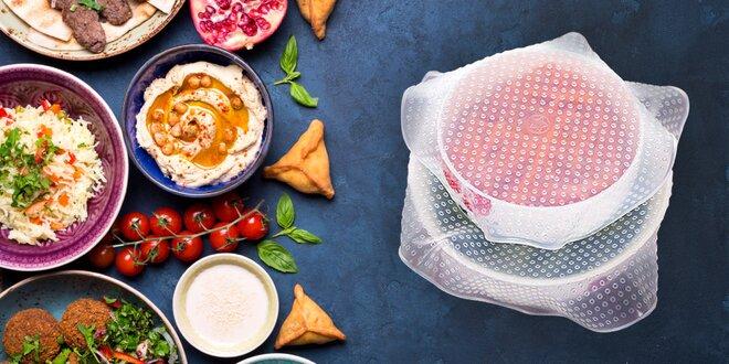 Silikonové pokličky pro vždy čerstvé potraviny