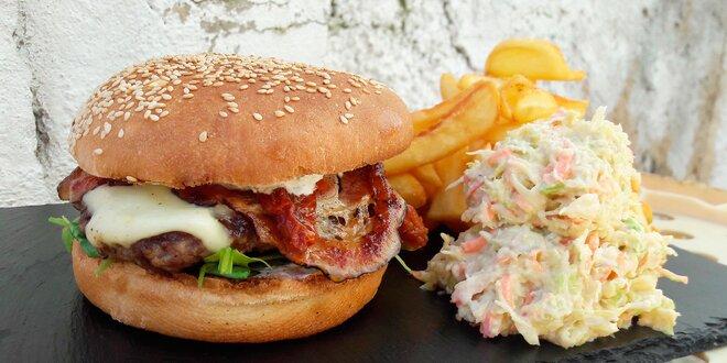 Dva burgery z lokálních surovin – i vege verze