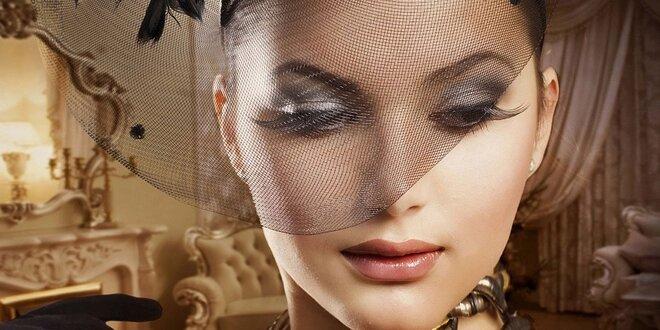 2D prodloužení řas luxusními řasami Velur Lashes