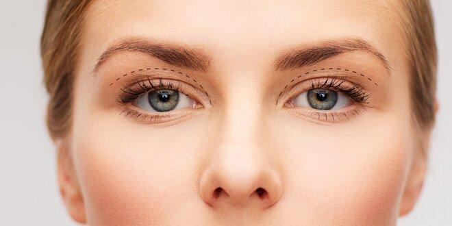 Eliminace nadbytečné kůže na očních víčkách