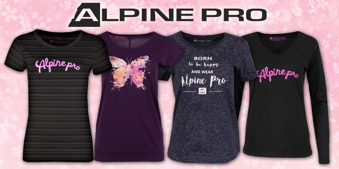 6ee470d0cda Dámská trička Alpine Pro