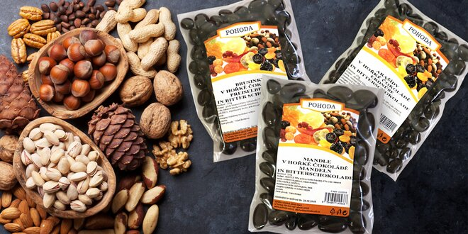 Ovoce a ořechy v hořké čokoládě: mlsání je radost