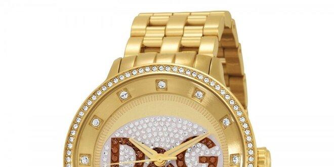 82d7ac010 Dámské zlaté ocelové hodinky Dolce & Gabbana s kamínky | Slevomat.cz