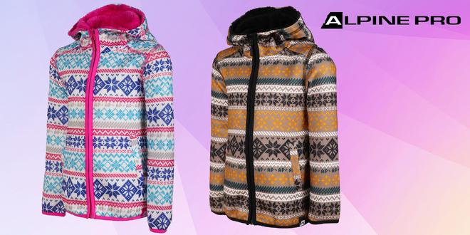Teplý dětský svetr Alpine Pro s kapucí
