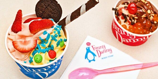 Mražený jogurt Funny Danny s posypem