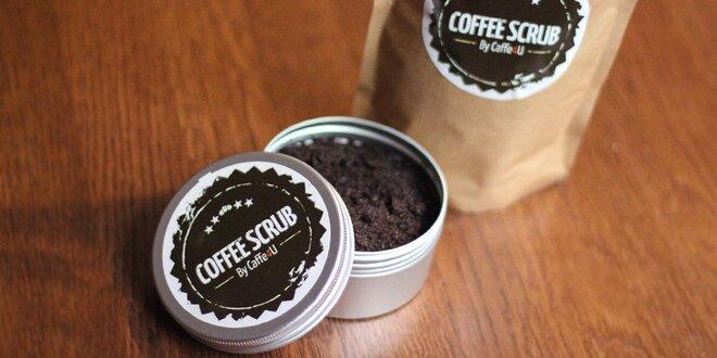 Kávový peeling pro jemnou pokožku