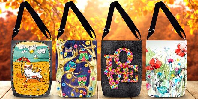 Nepromokavé kabelky s barevným potiskem