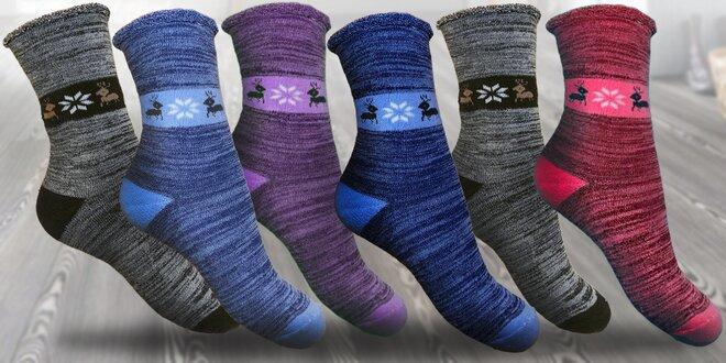 6 párů dámských zdravotních termo ponožek
