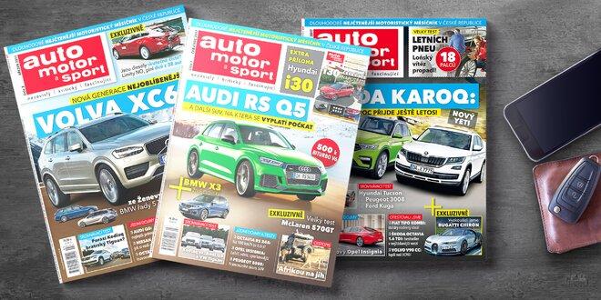 Roční předplatné časopisu auto motor a sport
